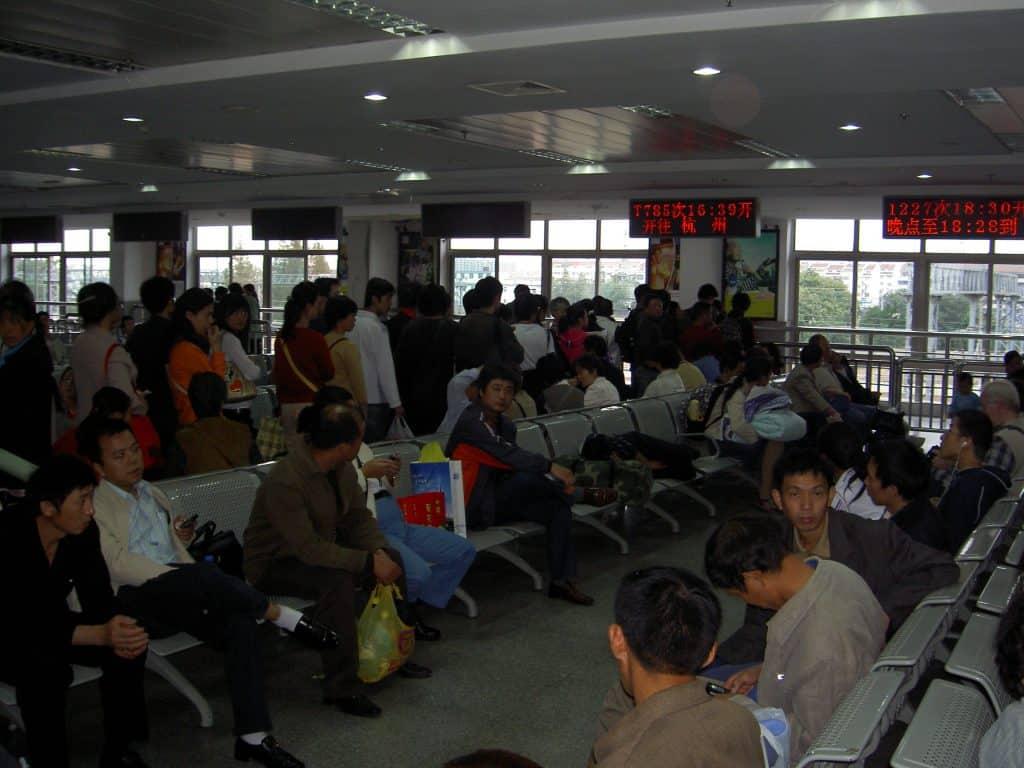 Suzhou, train station