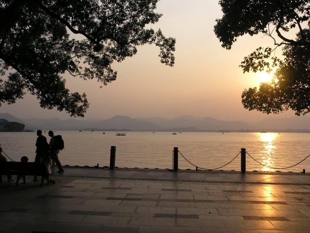 Hangzhou sun set
