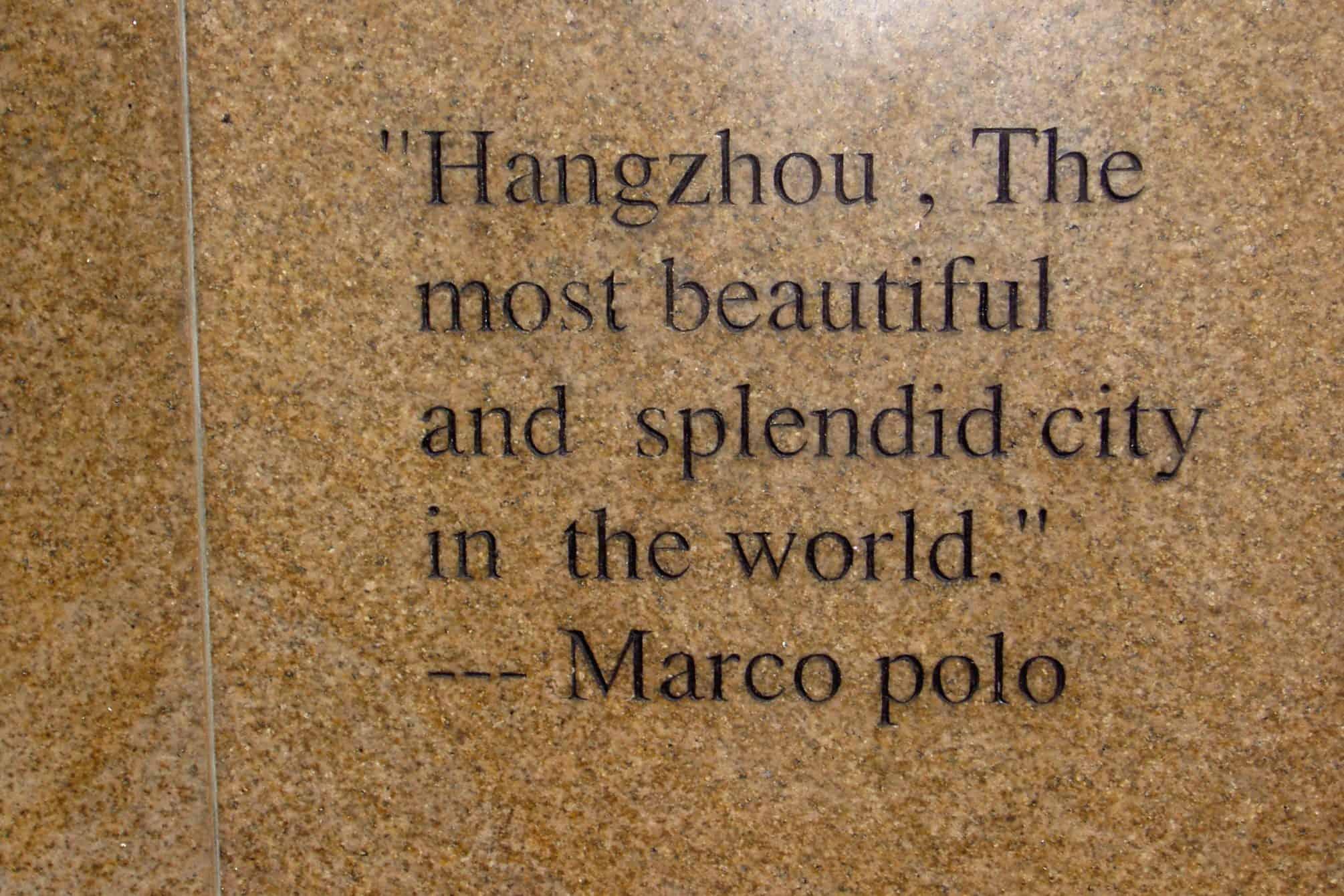Hangzhou, Marco Polo